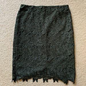 Ann Taylor lace overlay pencil skirt